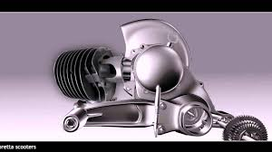 vespa engine assembly animation youtube