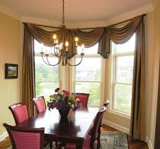 curtain ideas for dining room brilliant window treatments for bay windows in dining room h70 in