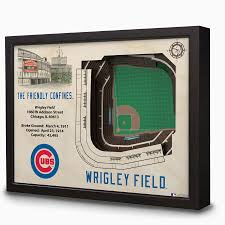 Chicago Cubs Map by Wrigley Field 3d Stadium Wall Art Chicago Tribune Store