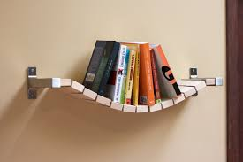 nice cream creative book shelf ideas that has small and unique
