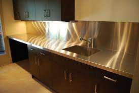 Kitchens With Stainless Steel Countertops Hand Made Stainless Steel Countertops By Custom Metal Home