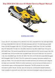 brp 2009 2010 ski doo all model service repai by juanitaharding