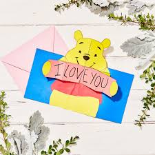 winnie the pooh pop up valentine u0027s day card disney family