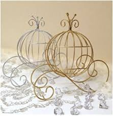 princess carriage centerpiece sweet 16 golden cinderella carriage cake topper or
