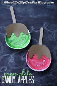 puffy paint caramel apple craft for kids puffy paint caramel