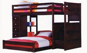 bedroom appealing over full bunk bed with storage stairs and