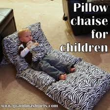 pillow beds for kids how to make a pillow chaise for children grandma s briefs