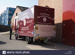 Furniture Recycling Gloucester Furniture Recycling Project Van Outside Warehouse