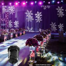 led lighting for banquet halls ship to usa only magicfly rotating projection led lights snowflake