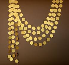 gold wedding garland gold garland gold wedding decor paper