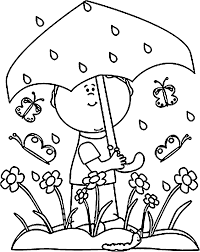 spring rain coloring pages coloring home
