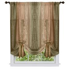 Tie Up Curtain Shade Achim Semi Opaque Ombre Polyester 50 In W X 63 In L Tie Up Shade