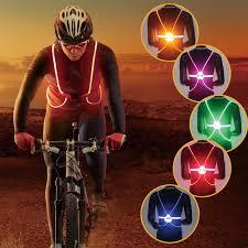 bike lights for night riding cycling light vest night riding color reflective led back bike light