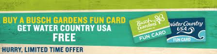 Busch Gardens Williamsburg Fall Fun Card - busch gardens discounts richmond bargains