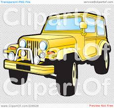 jeep yellow royalty free rf clipart illustration of a yellow jeep wrangler