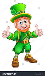 cartoon leprechaun st patricks day character stock vector
