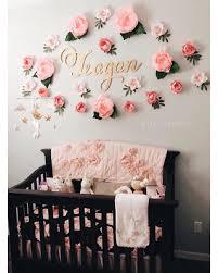 BIG Deal on Dreamy paper flower wall display Girl nursery wall