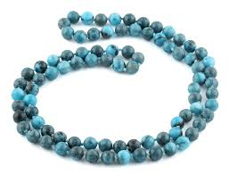 round turquoise necklace images 32 quot 8mm blue amazonite jasper round gemstone bead necklace png