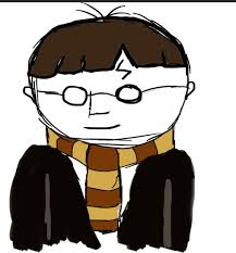 simple harry potter cartoon drawing