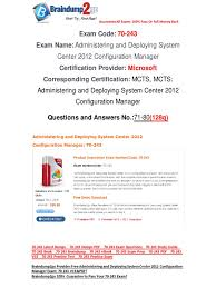 free braindump2go latest 70 243 exam questions 71 80 active
