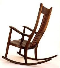modern wood chair creative idea brown modern wood rocking chair with blue seat