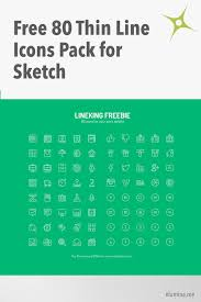 80 thin line icons pack for sketch freebies elumina