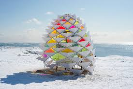 kinetic snowcone winter station reimagines lifeguard post on