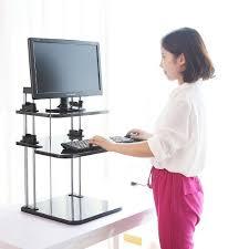 easy movable lightweight adjustable standing laptop desk w