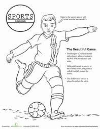 soccer coloring worksheet education com