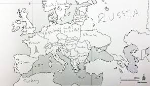 a map of europe with countries americans were asked to place european countries on a map here s