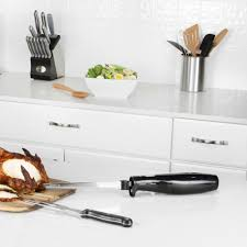 quick slice 3 piece electric knife carving set cutlery