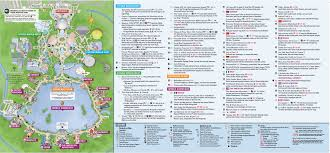 Disney Map Updated Epcot Map