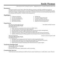 service clerk sample resume best accounts receivable clerk resume example livecareer
