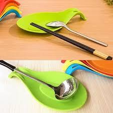 repose ustensile cuisine gros repose cuillère en silicone pour ustensiles de cuisine vert