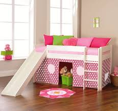 play 3 midsleeper bed with slide u0026 tent pink by stompa