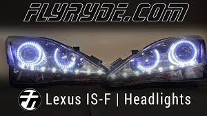 lexus halo vehicle custom 2006 2010 lexus isf sequential led headlights youtube