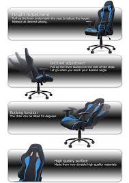 Rocking Gaming Chair Akracing Premium Plus Gaming Chair Orange