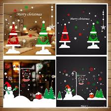 Christmas Angel Window Decorations 16 styles 50 70cm christmas window stickers vinyl diy star snow