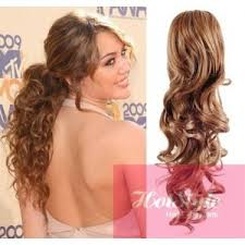 curly hair extensions clip in ponytail wrap braid hair extension 24 curly light brown