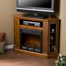 cornet tv stand with electric fireplace and narrow glass door