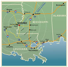 mileage map directions to natchez mississippi maps and directions
