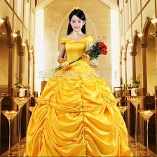 yellow princess belle dress beauty and the beast belle cosplay