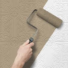 shop allen roth peelable vinyl prepasted paintable wallpaper at