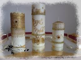 bougie personnalisã e mariage bougies mariage le de hamanour