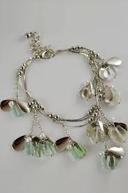 pandora silver link bracelet images Fashion pendant decor multi chain link bracelet 004930 bracelst jpg