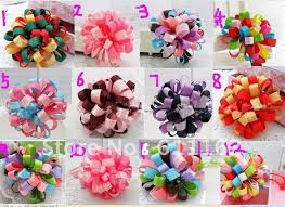 2018 best sale children flower hair bow loopy bow 12 different