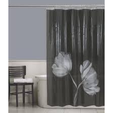 Vinyl Shower Curtains Maytex Tulip Peva Vinyl Shower Curtain Black Walmart