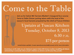 our first farm to table dinner invitation market events