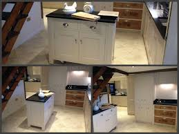 clever idea bespoke moveable kitchen island on lockable hidden