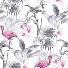 wallpaper with pink flamingos superfresco easy rio pink flamingo metallic effect wallpaper